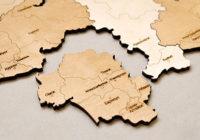 Карта пазл на стену